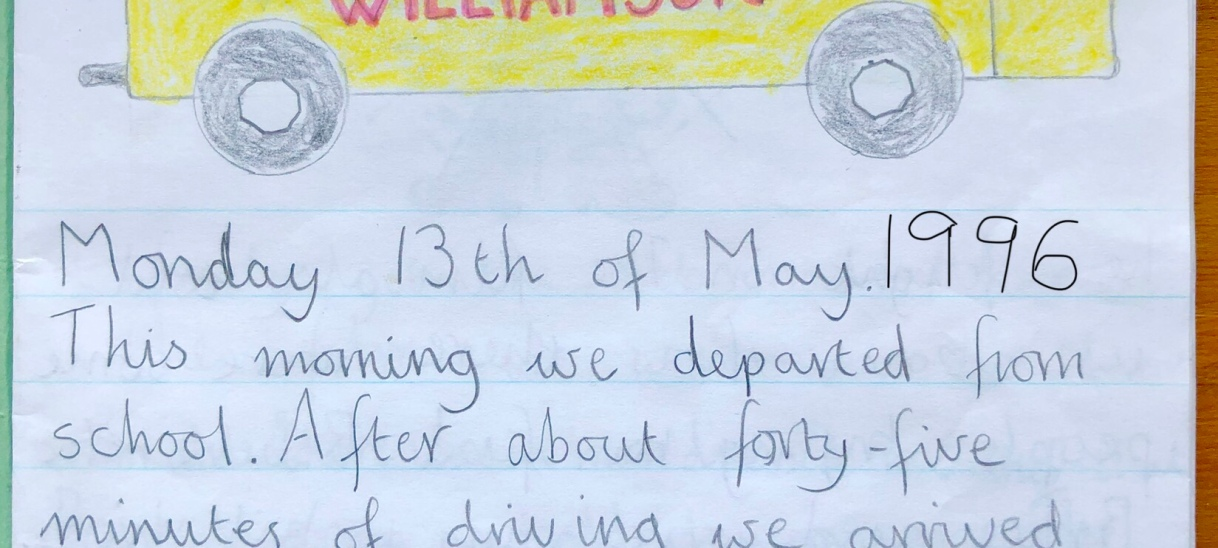 My tour guide beginnings. 1996 Diary – School Trip to the Highlands of Scotland – Day 1…